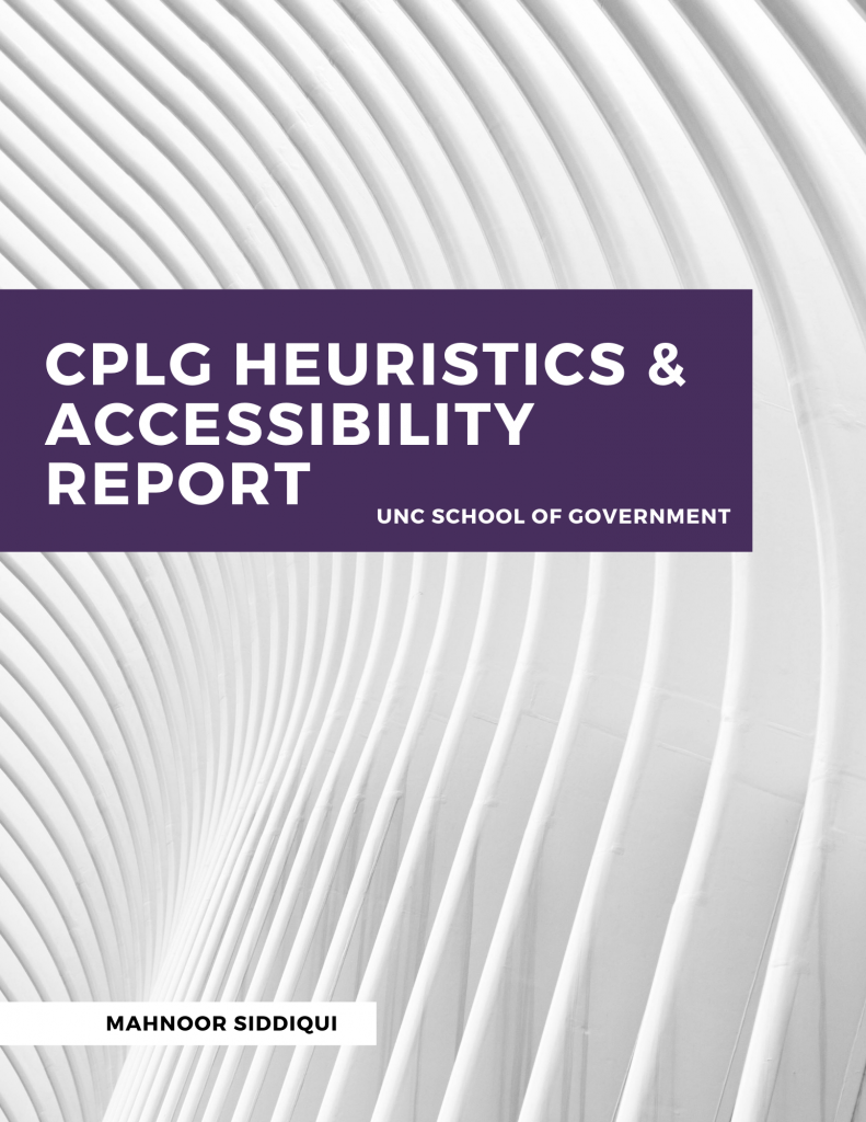 CPLG Report